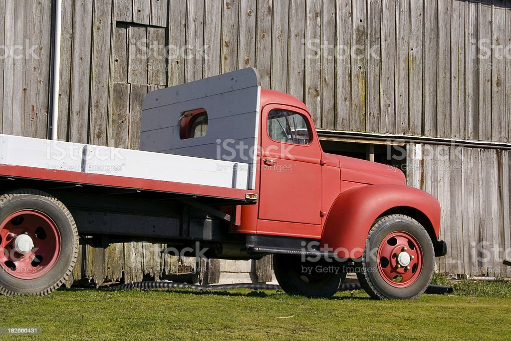 Red Farm Truck - 8 royalty-free stock photo