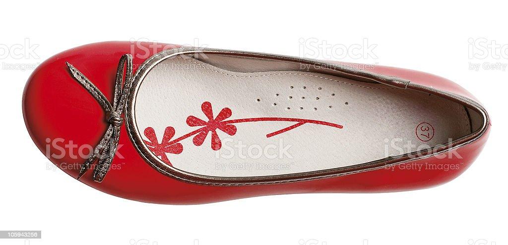 Zapatos de moda glamour rojo foto de stock libre de derechos