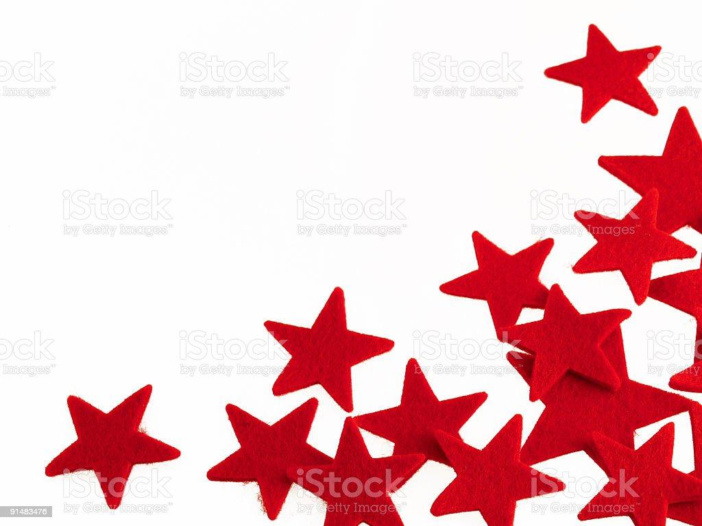 Red Felt Stars royalty-free stock photo
