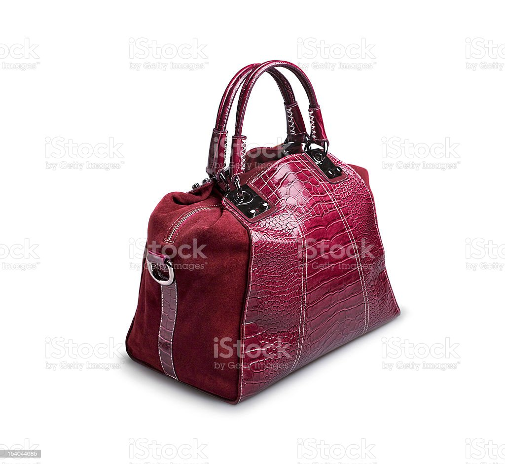 Red female bag royalty-free stock photo