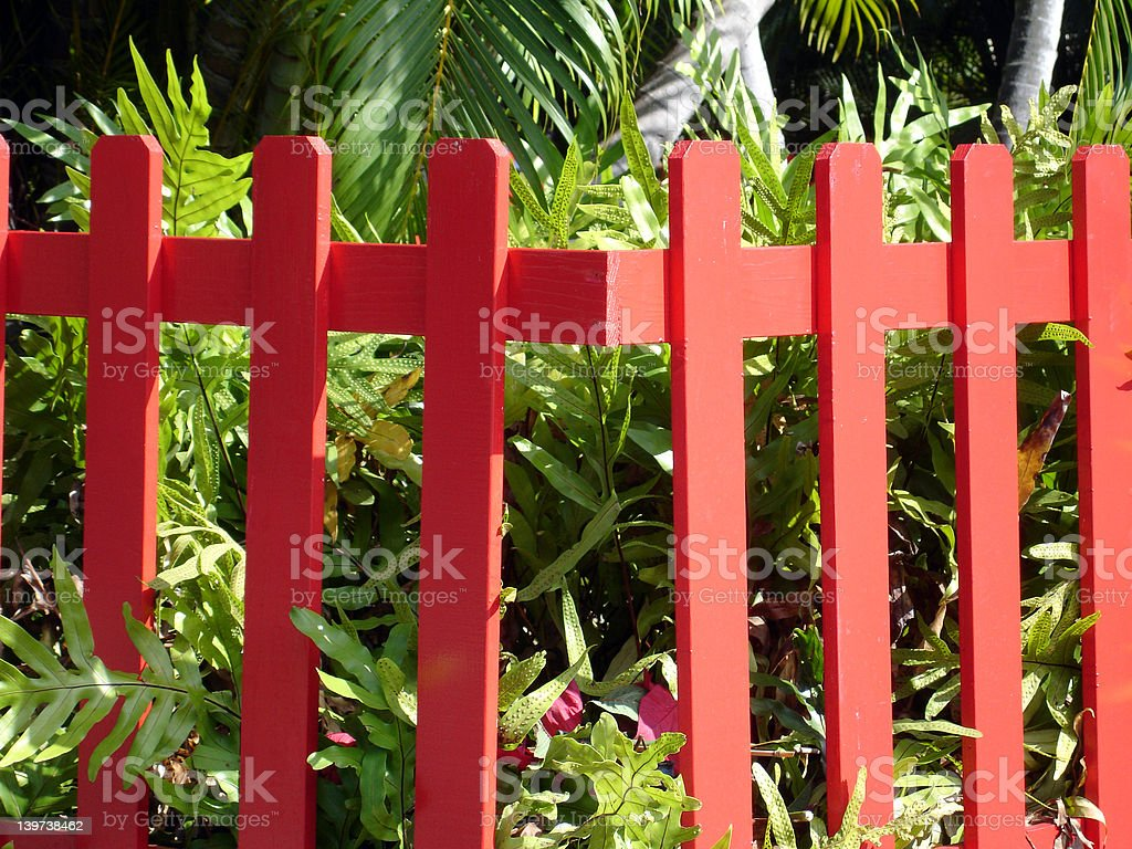 Red Fence royalty-free stock photo