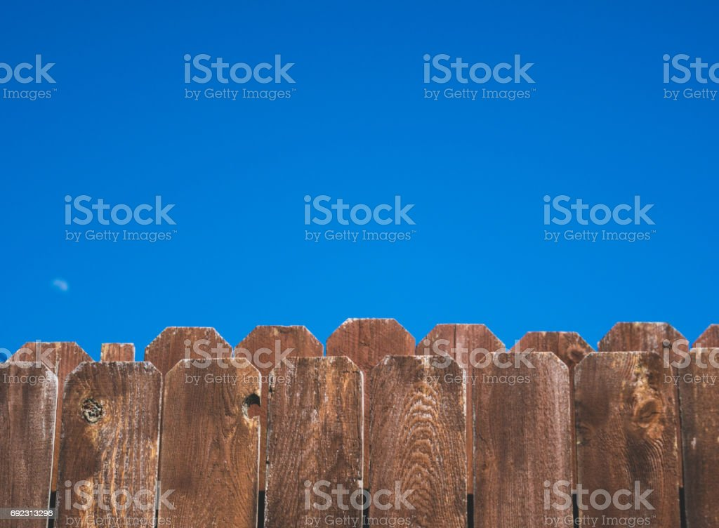 Red fence stock photo
