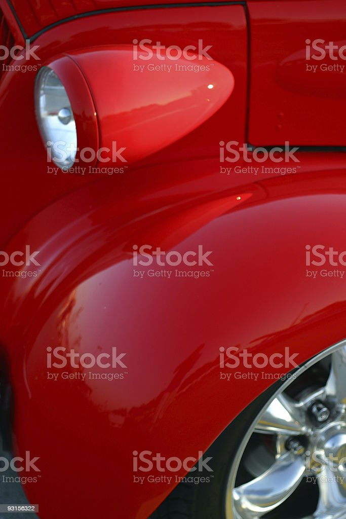 Red Fender Classic 3 royalty-free stock photo
