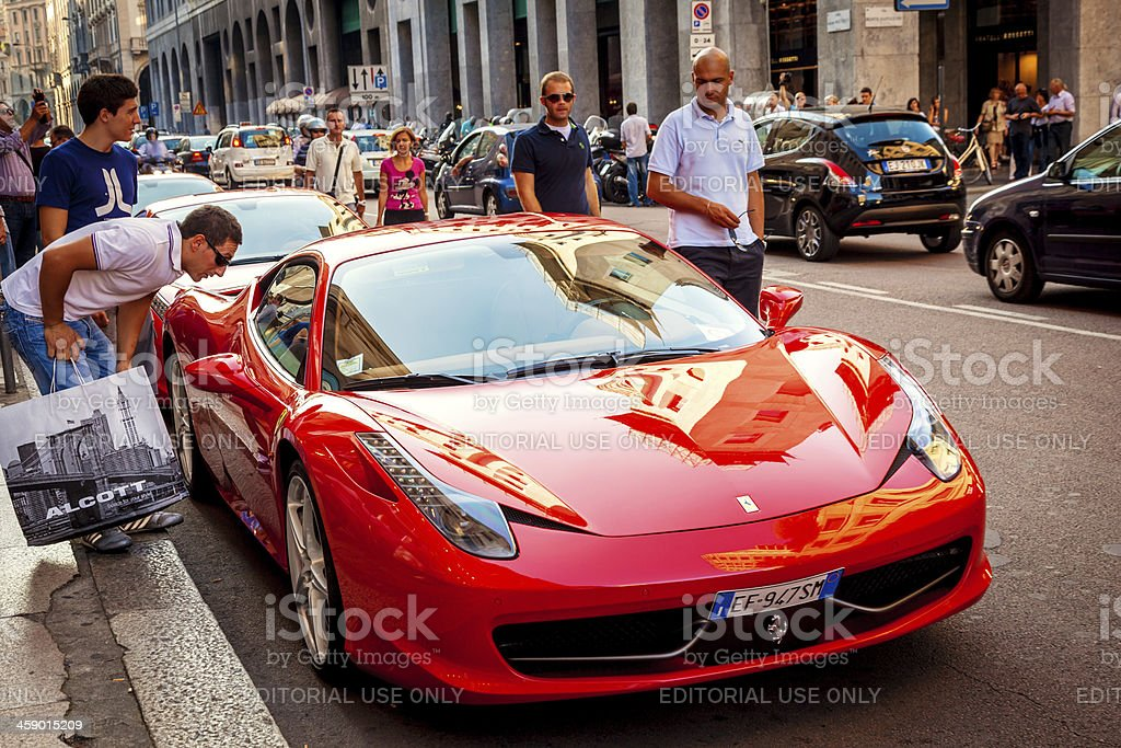 Red Ferrari stock photo
