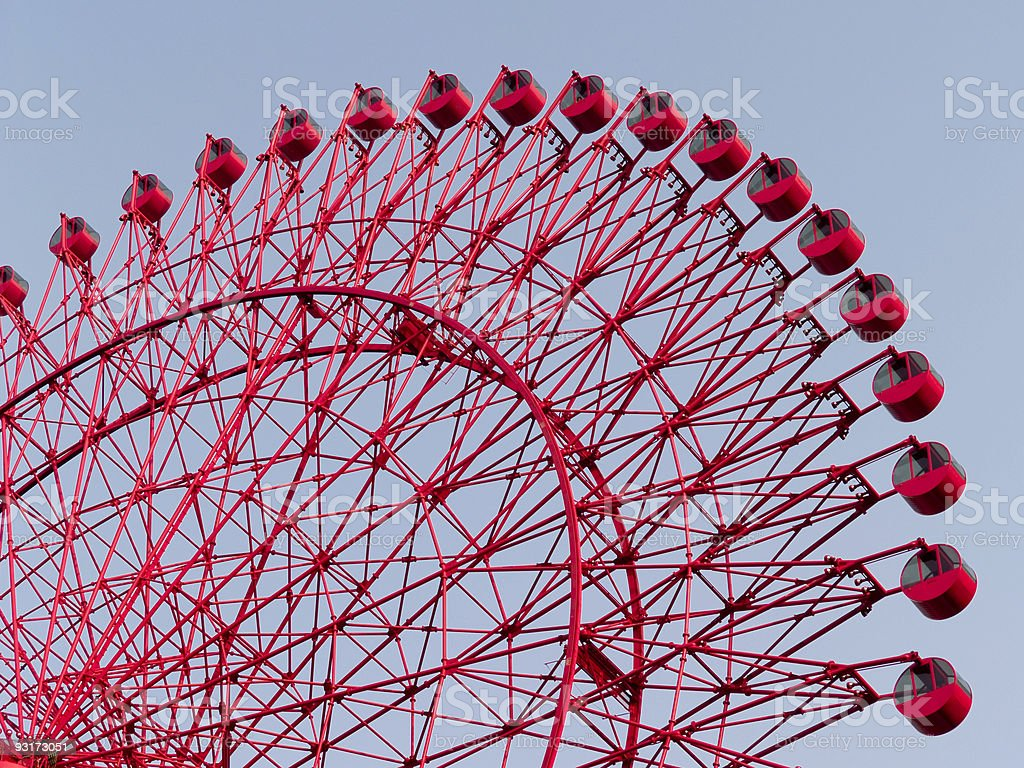 Red Ferris Wheel royalty-free stock photo