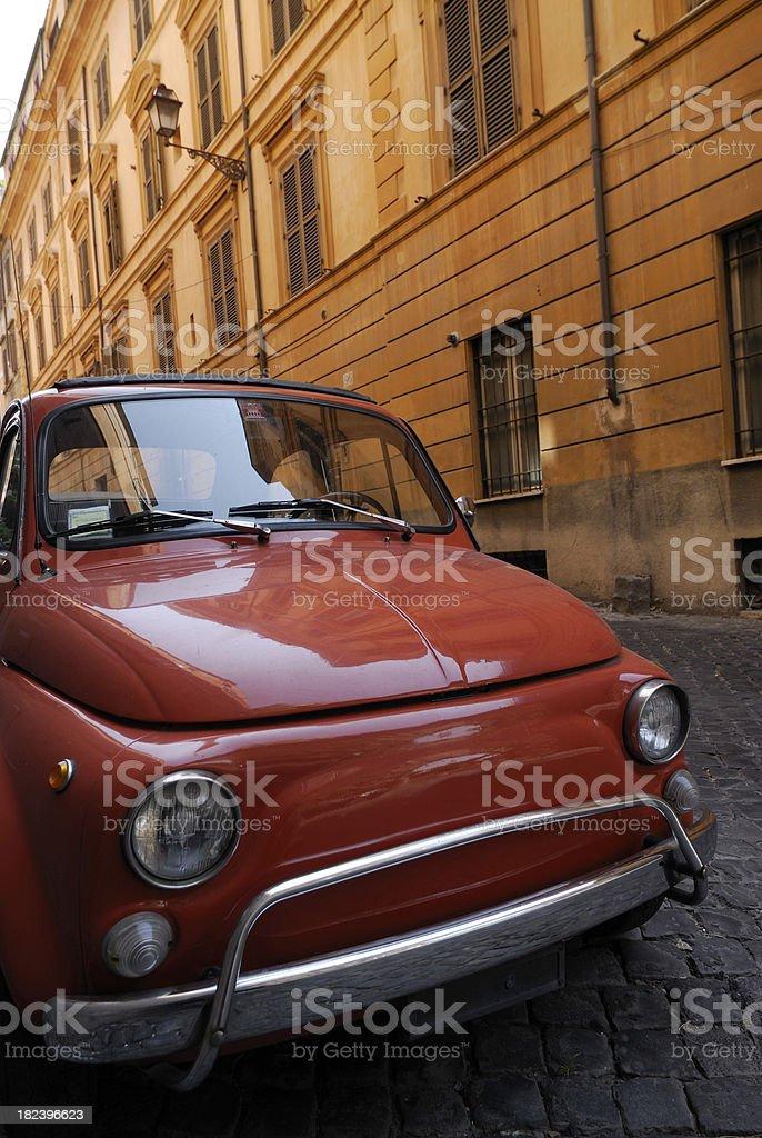 Red Fiat Cinquecento Rome royalty-free stock photo