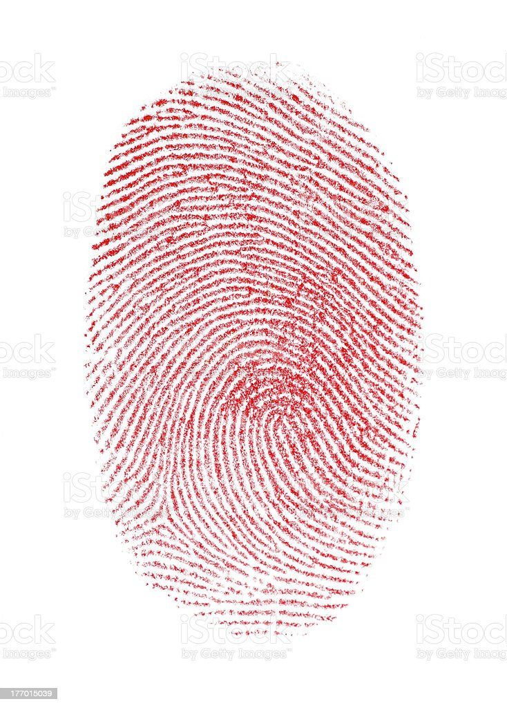 Red Fingerprint royalty-free stock photo