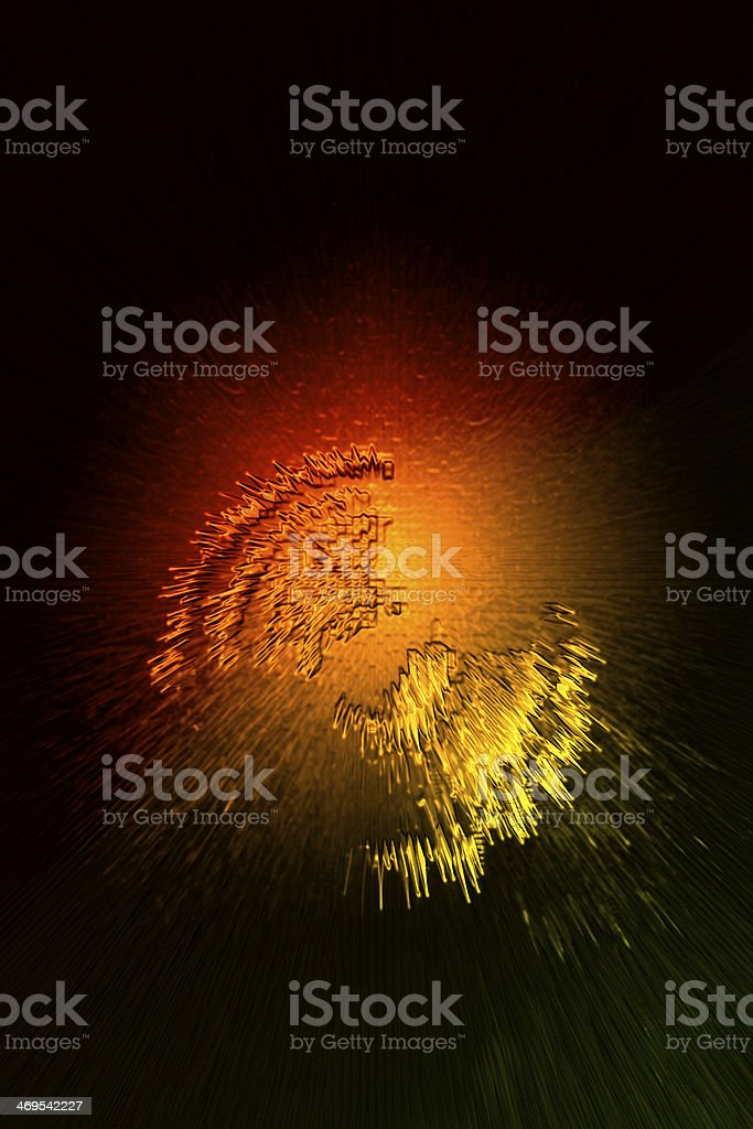 Red Fire Ball royalty-free stock photo