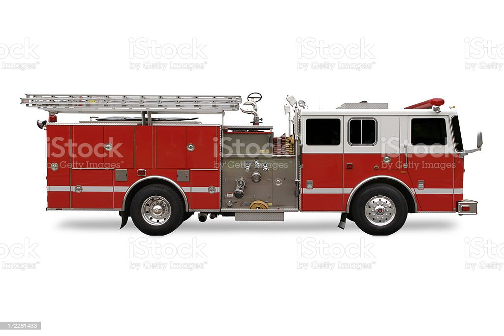 Red Fire Engine stock photo