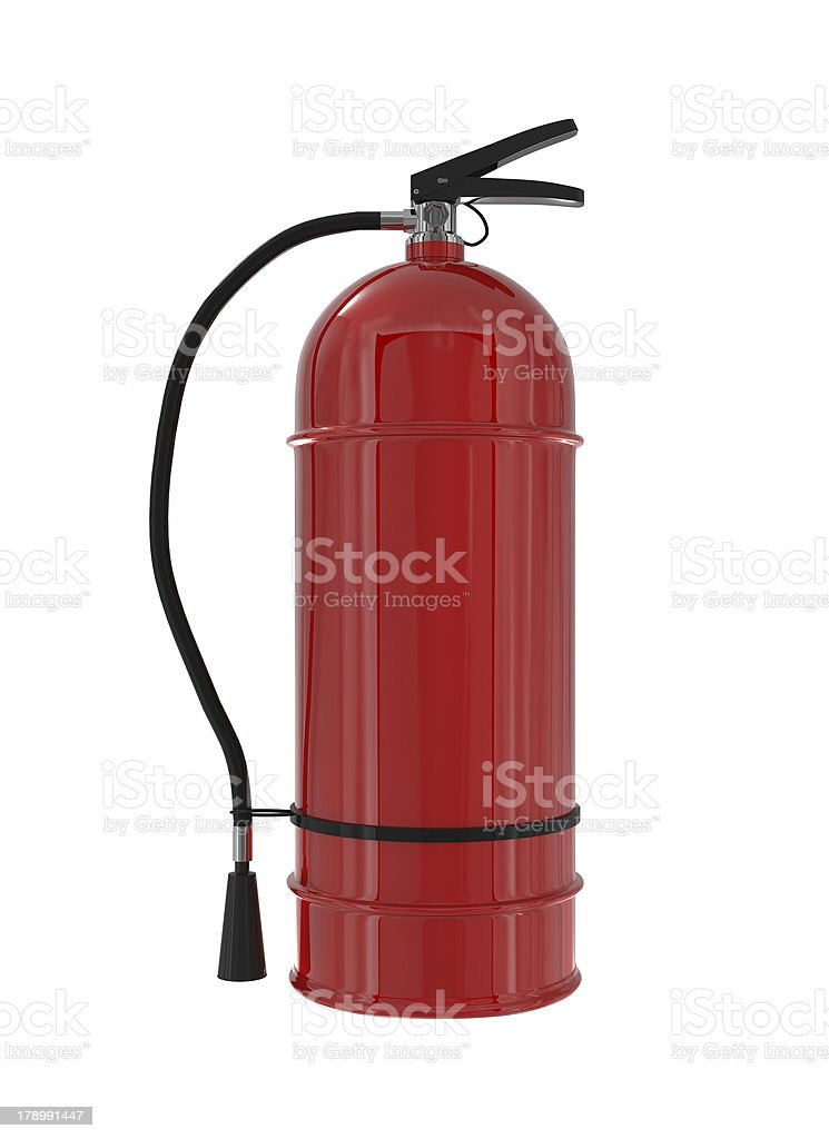 Red Fire Extinguisher isolated on white royalty-free stock photo