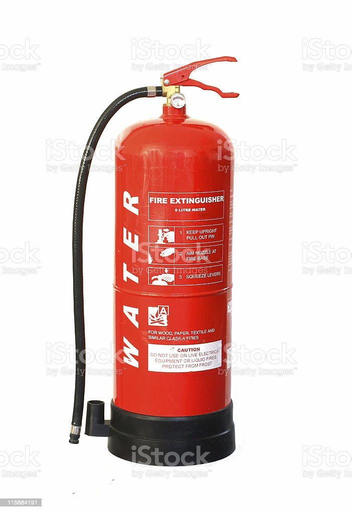 Red Fire Extinguisher stock photo
