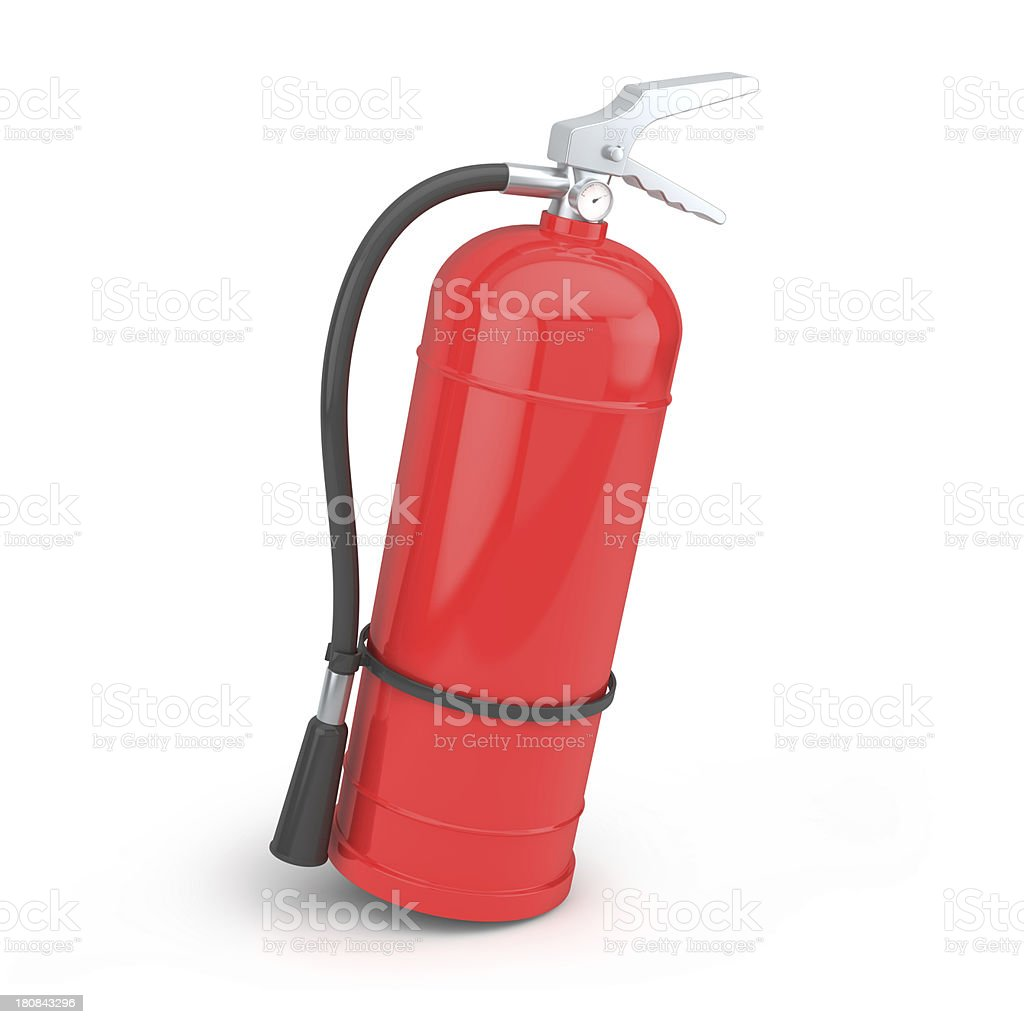Red fire extinguisher royalty-free stock photo