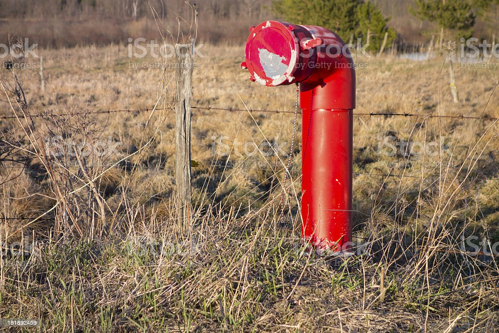 Red Fire Hydrant royalty-free stock photo
