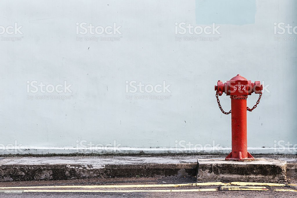 Red Fire pumps on the street royalty-free stock photo