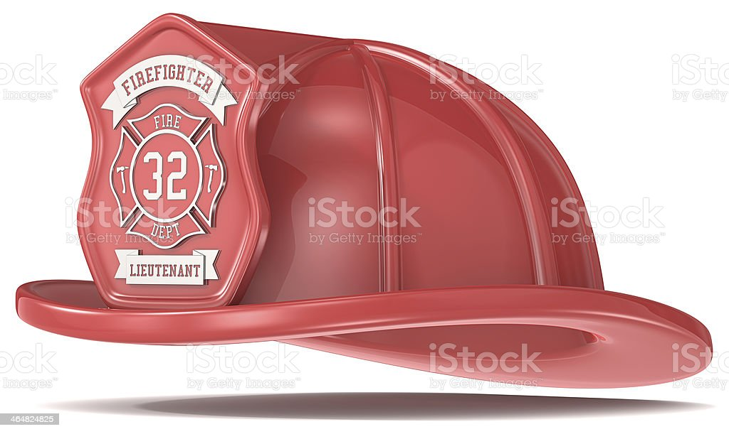Red Firefighter Helmet. royalty-free stock photo