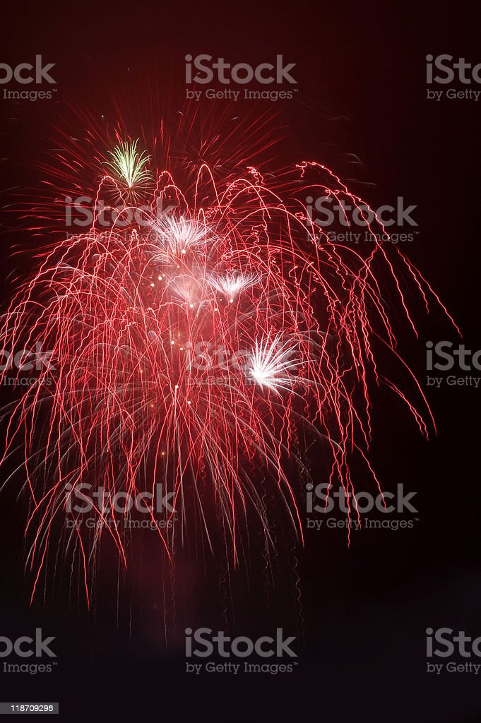Red fireworks royalty-free stock photo