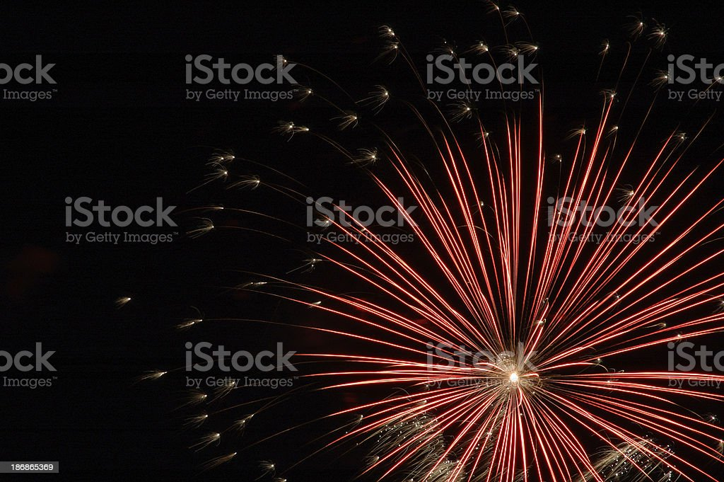 Red Fireworks stock photo