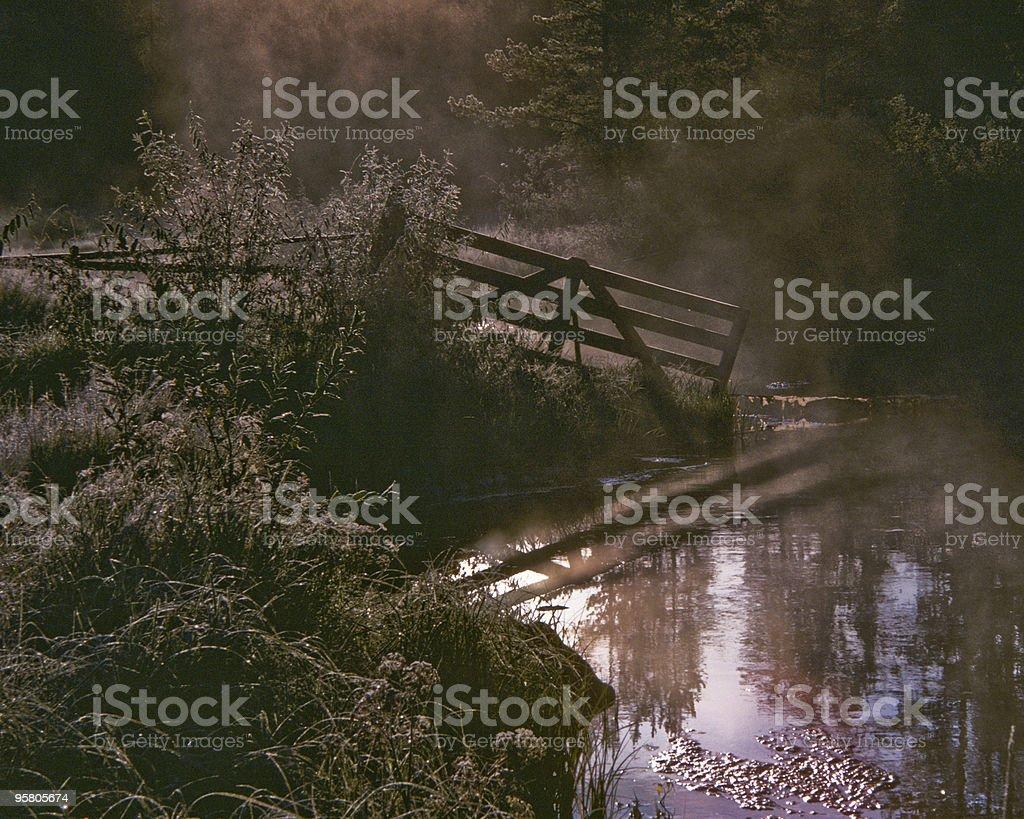 Red Fish Creek at Sunrise stock photo