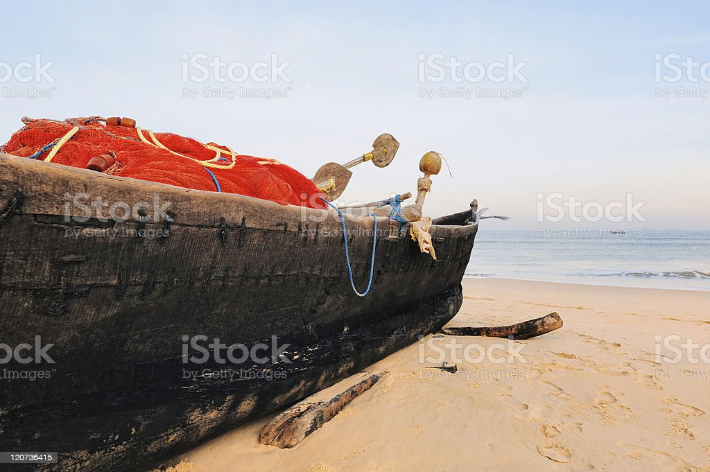 Red fishing net royalty-free stock photo