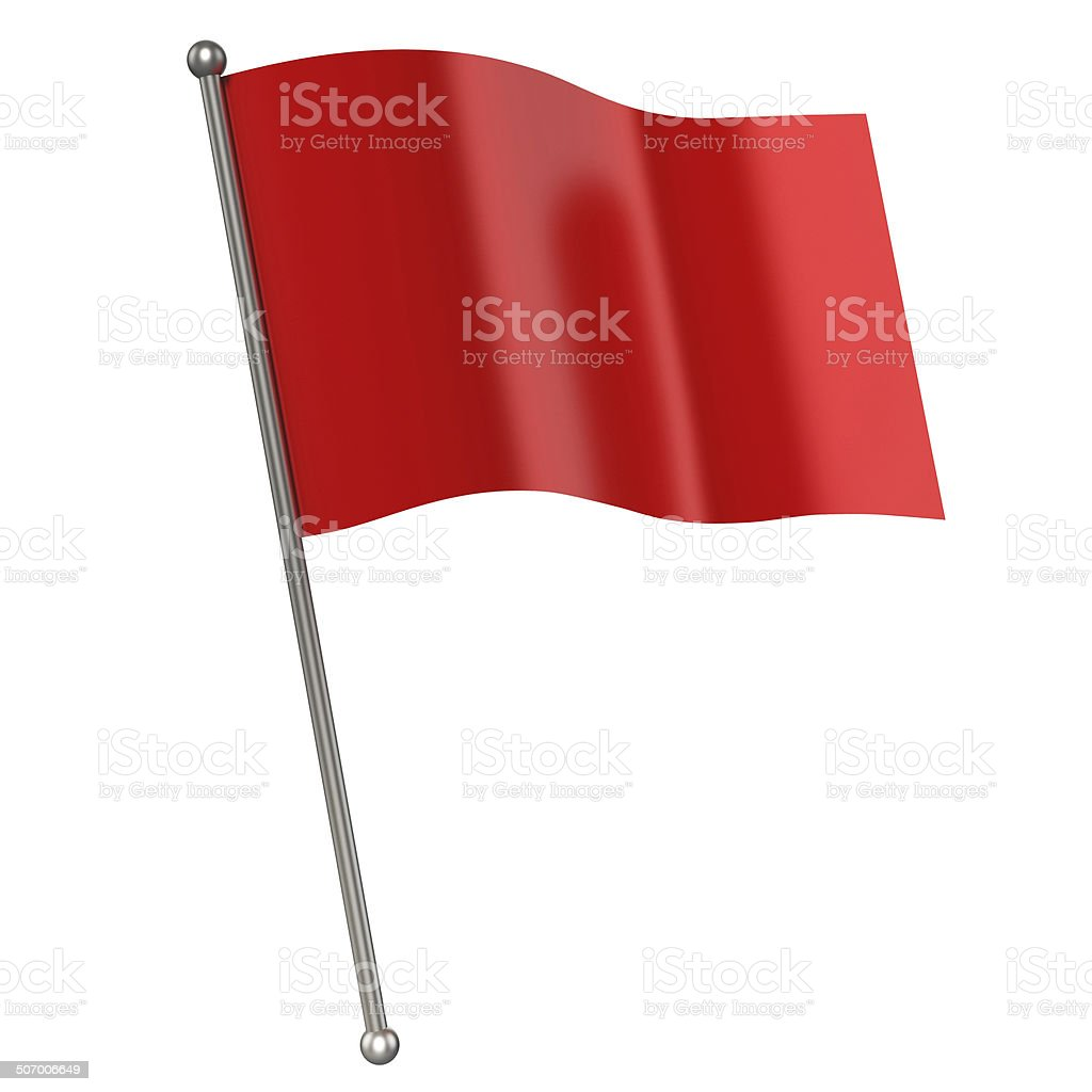 red flag isolated vector art illustration