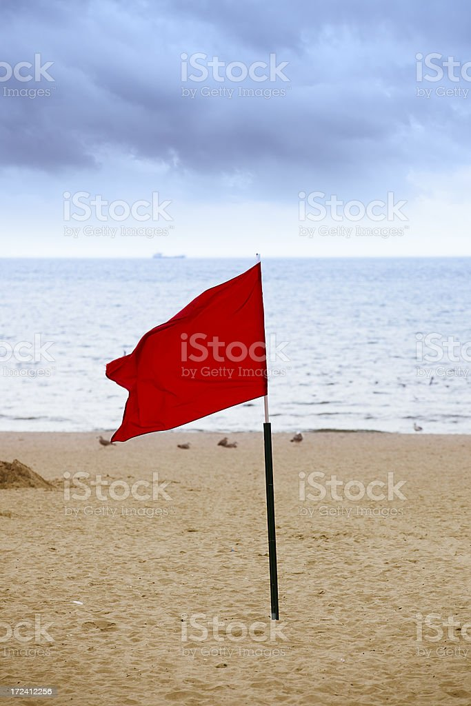 Red flag royalty-free stock photo
