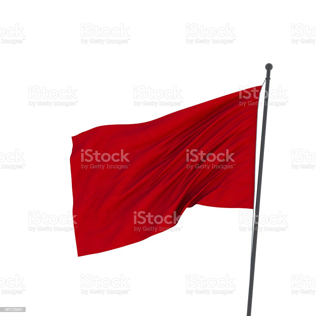 XXL red flag stock photo