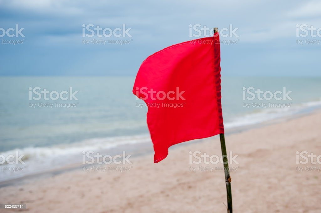 Red flag stock photo