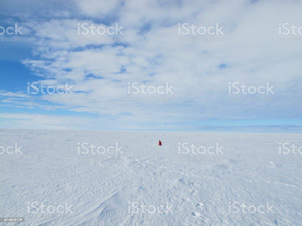 Red Flag, Ross Sea Ice Shelf stock photo
