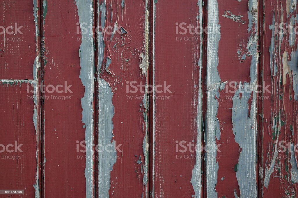 Red flaky paint door royalty-free stock photo