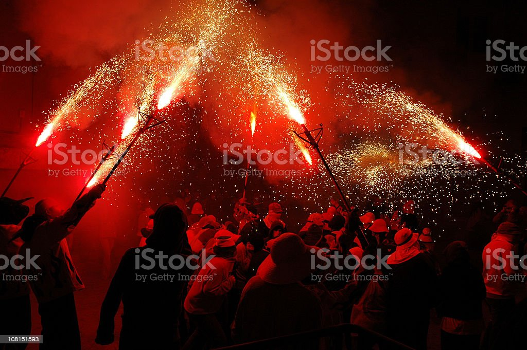 Red Flares royalty-free stock photo
