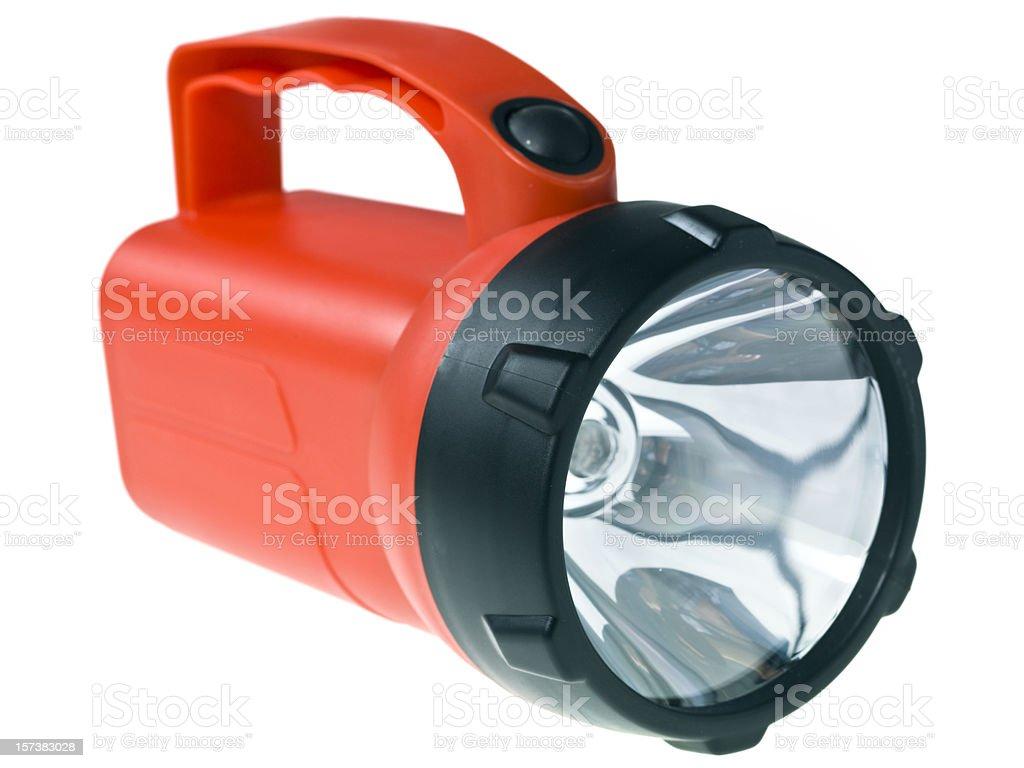 Red flashlight royalty-free stock photo