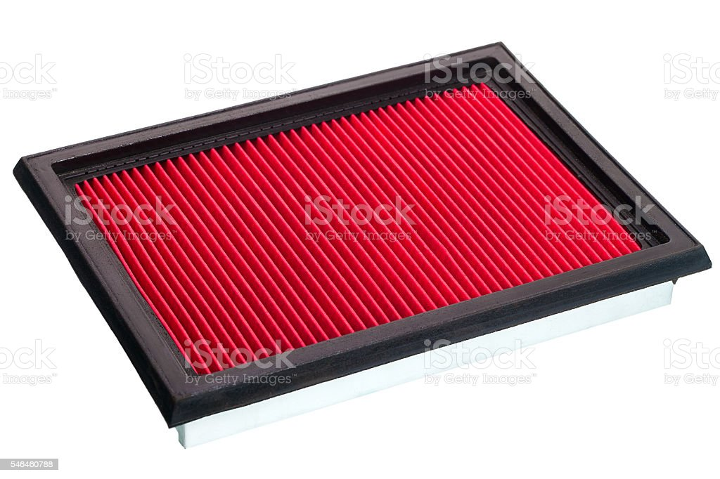red Flat engine air filter. stock photo
