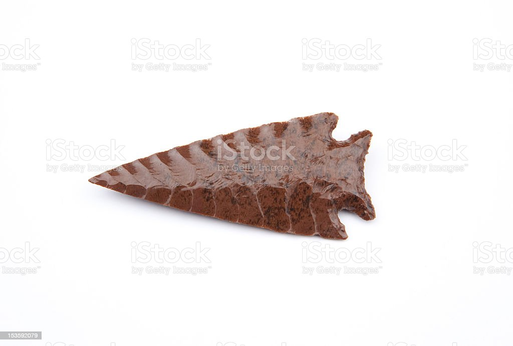 Red Flint Arrowhead royalty-free stock photo