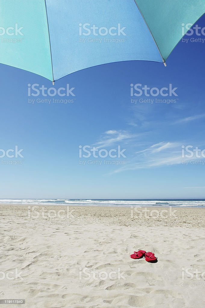 Red Flipflops royalty-free stock photo
