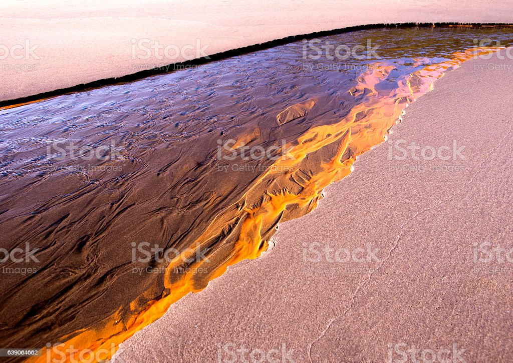 Red flow stock photo