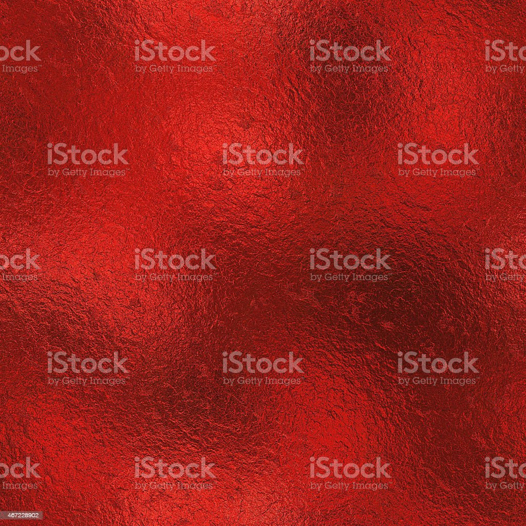 Red Foil Seamless Background Texture stock photo