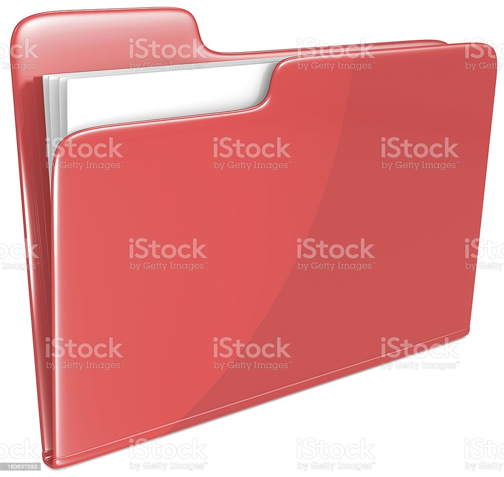 Red Folder. royalty-free stock photo