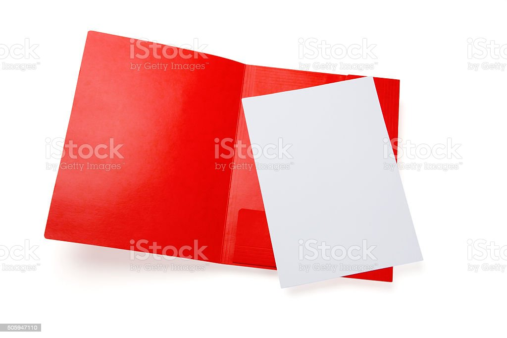 Red folder stock photo