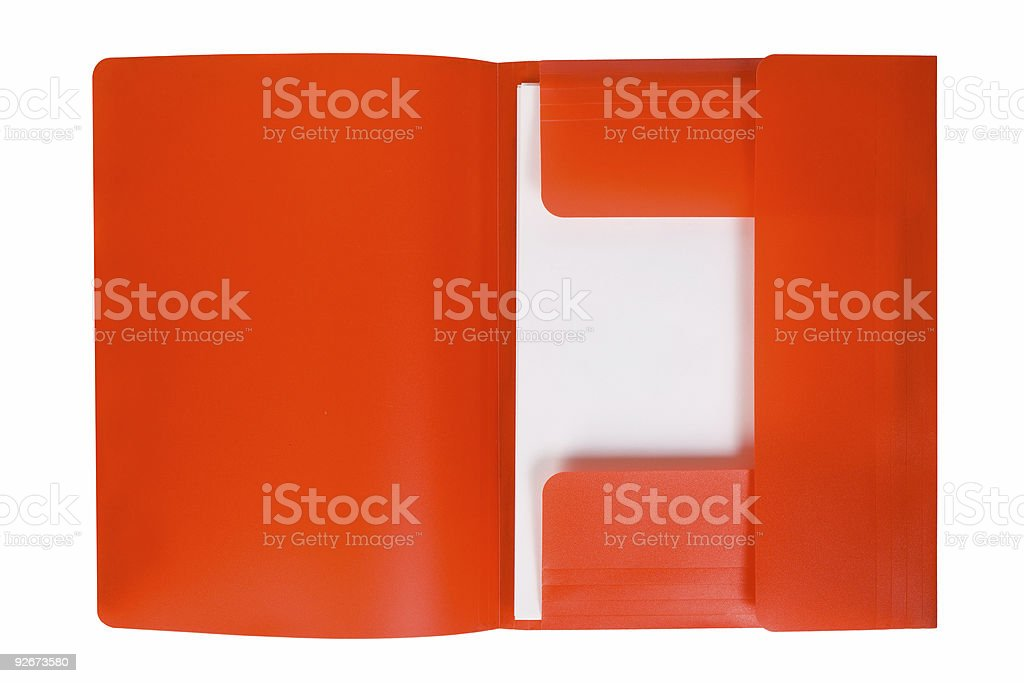 Red folder with paper royalty-free stock photo