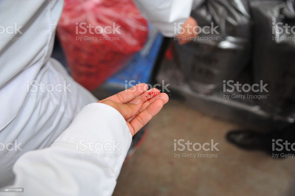 Red Food Coloring Agent stock photo