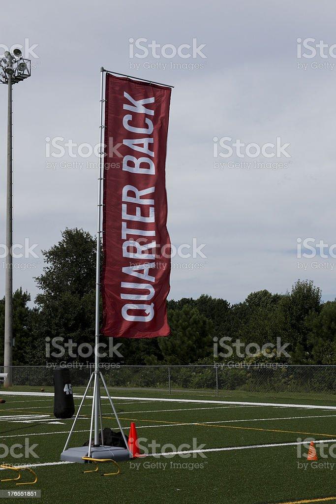 Red Football Quarterback Flag royalty-free stock photo