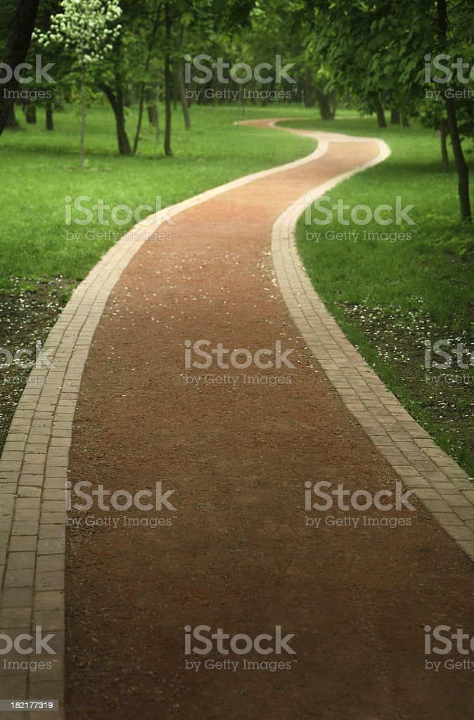 red footpath royalty-free stock photo