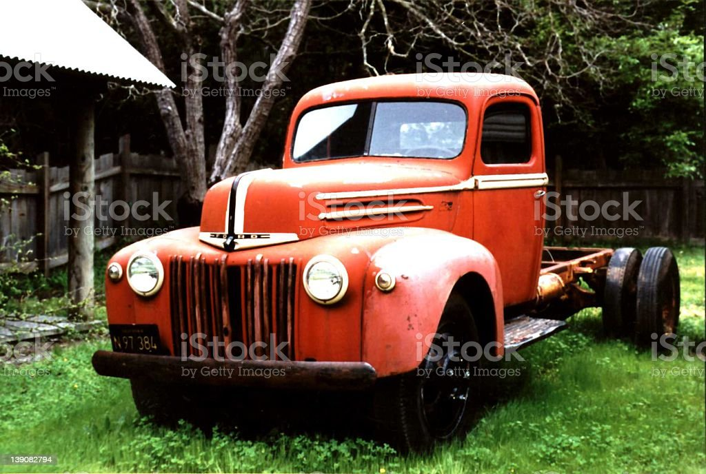 red ford truck royalty-free stock photo