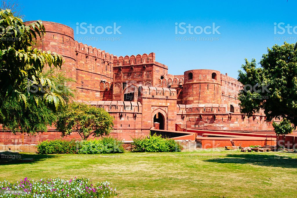 Red Fort Agra India stock photo