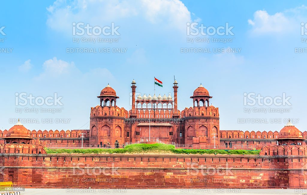 Red Fort (Lal Qila) Delhi, India stock photo