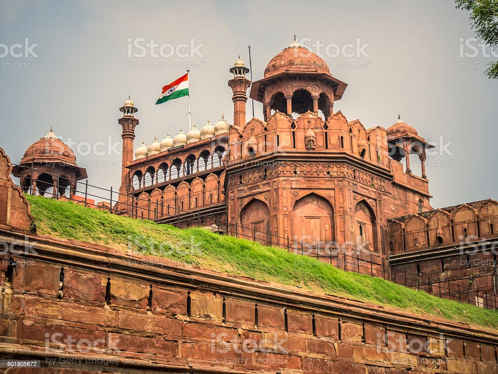 Red Fort Delhi India stock photo