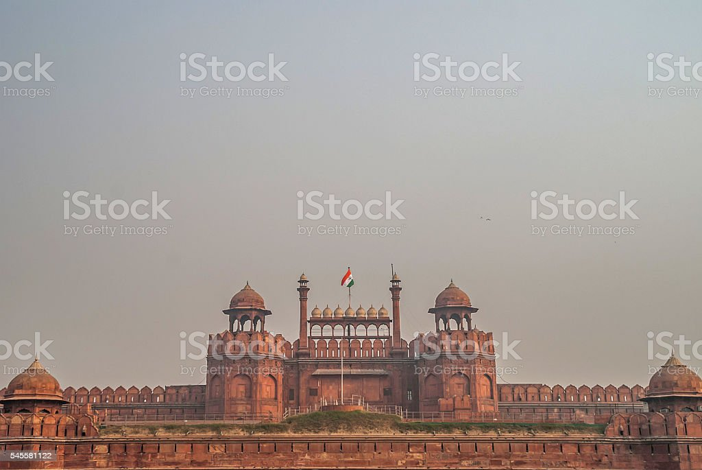 Red Fort (Lal Qila) Delhi. India stock photo