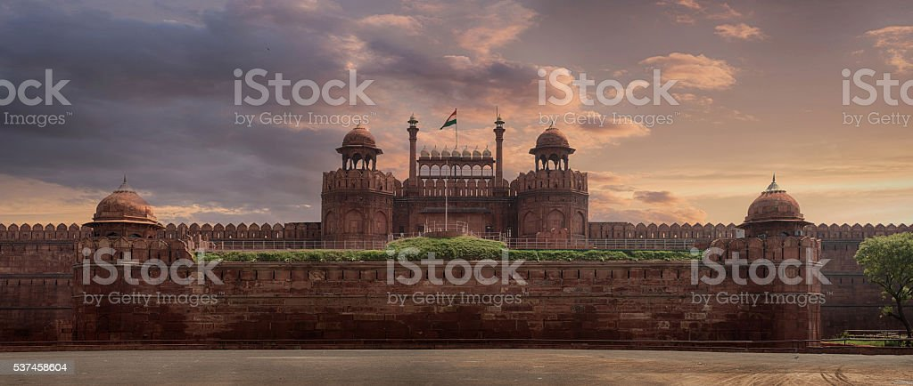 Red Fort, Delhi stock photo