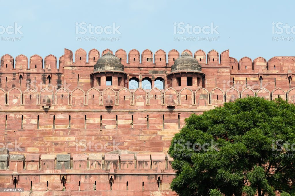 Red Fort in Agra stock photo