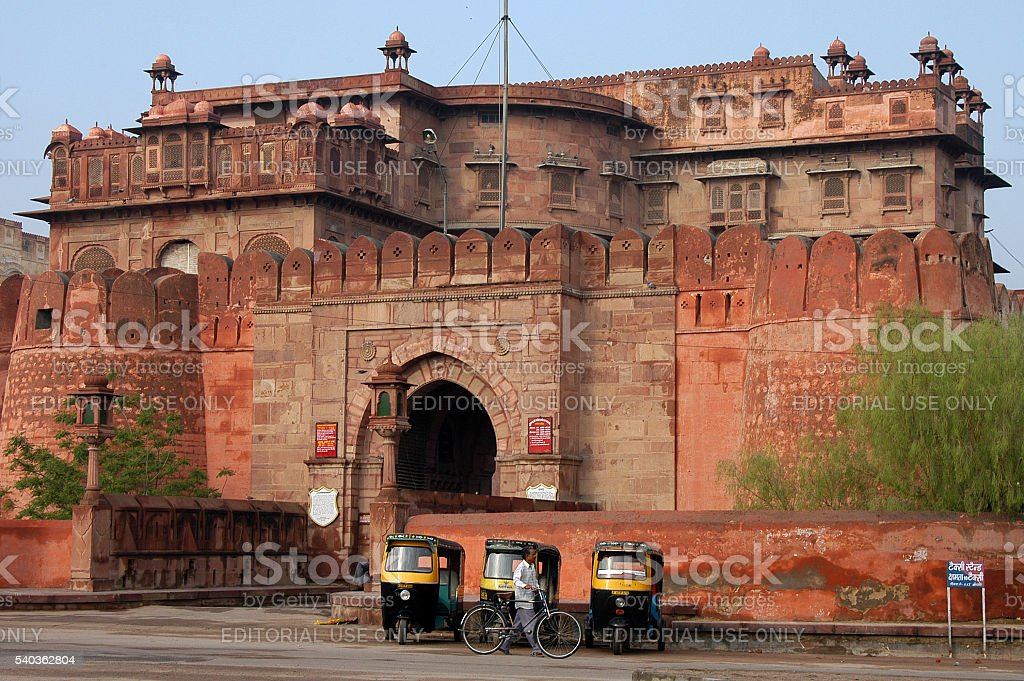 Red Fort in Bikaner, India stock photo